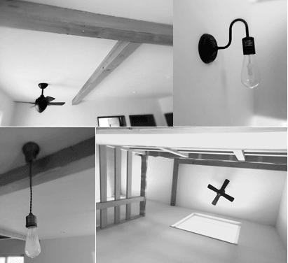 ナチュリエの家アンティーク照明のイメージ
