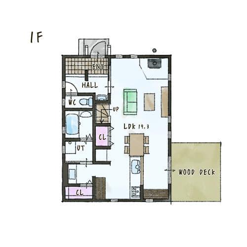 モデルハウス1階間取りイメージ