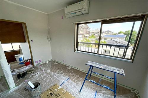 塗り壁をした後の部屋のイメージ