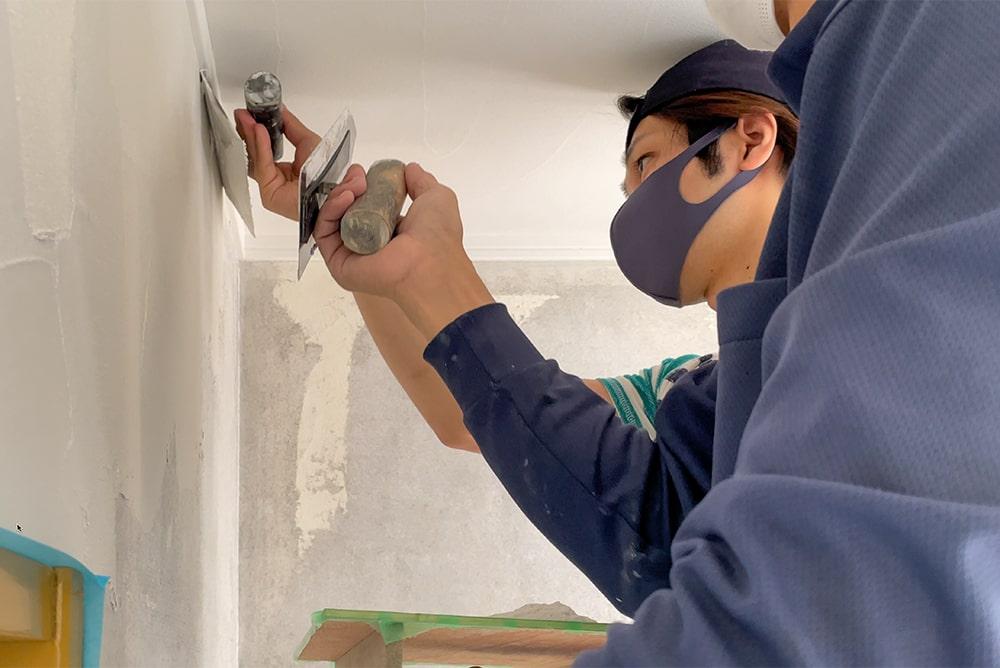 DIYで塗り壁のイメージ